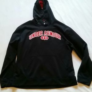 Black and Red Under Armour Hoodie